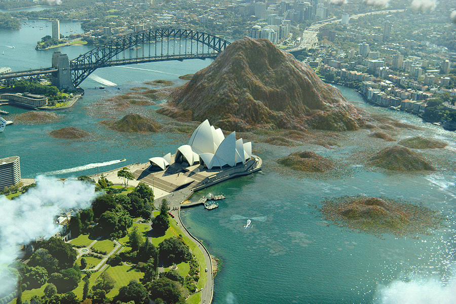 CGI 20bn of food waste in Sydney Harbour image credit Christian Debney